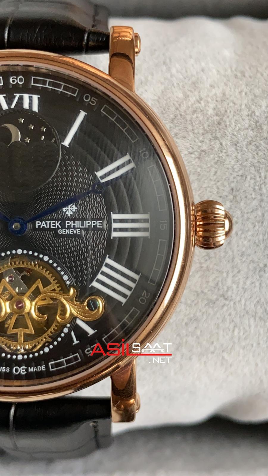 PATEK PHILIPPE Geneve Tourbillon Dual Time Rosegold Replika Saat PPTO008