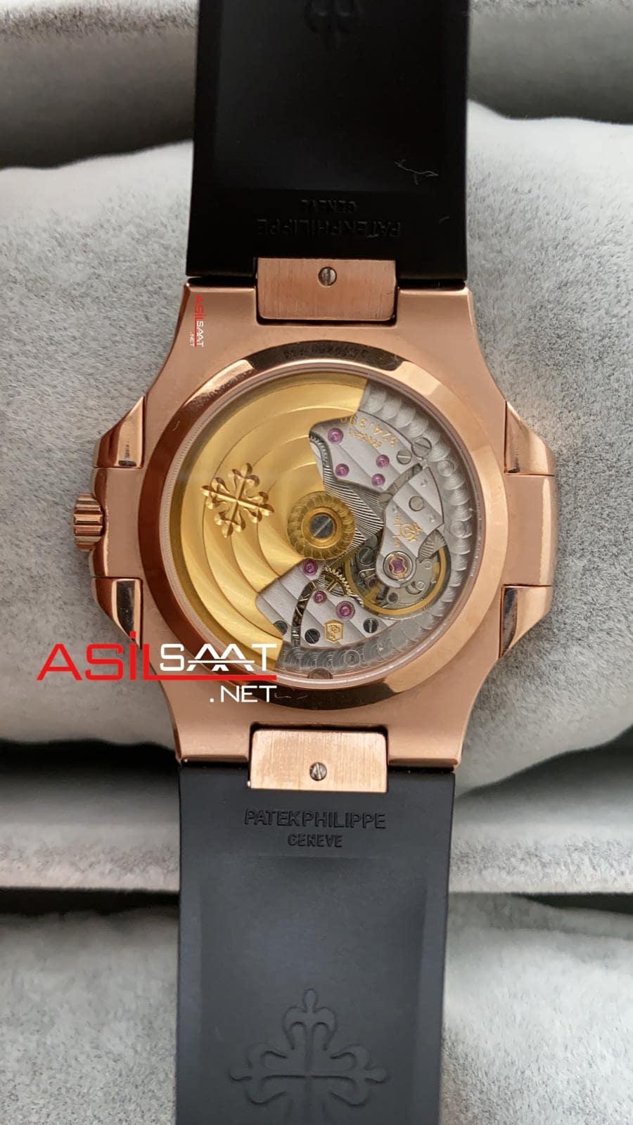 Patek Philippe Nautilus Rosegold İşlemeli Kasa Replika Saat PPNA035