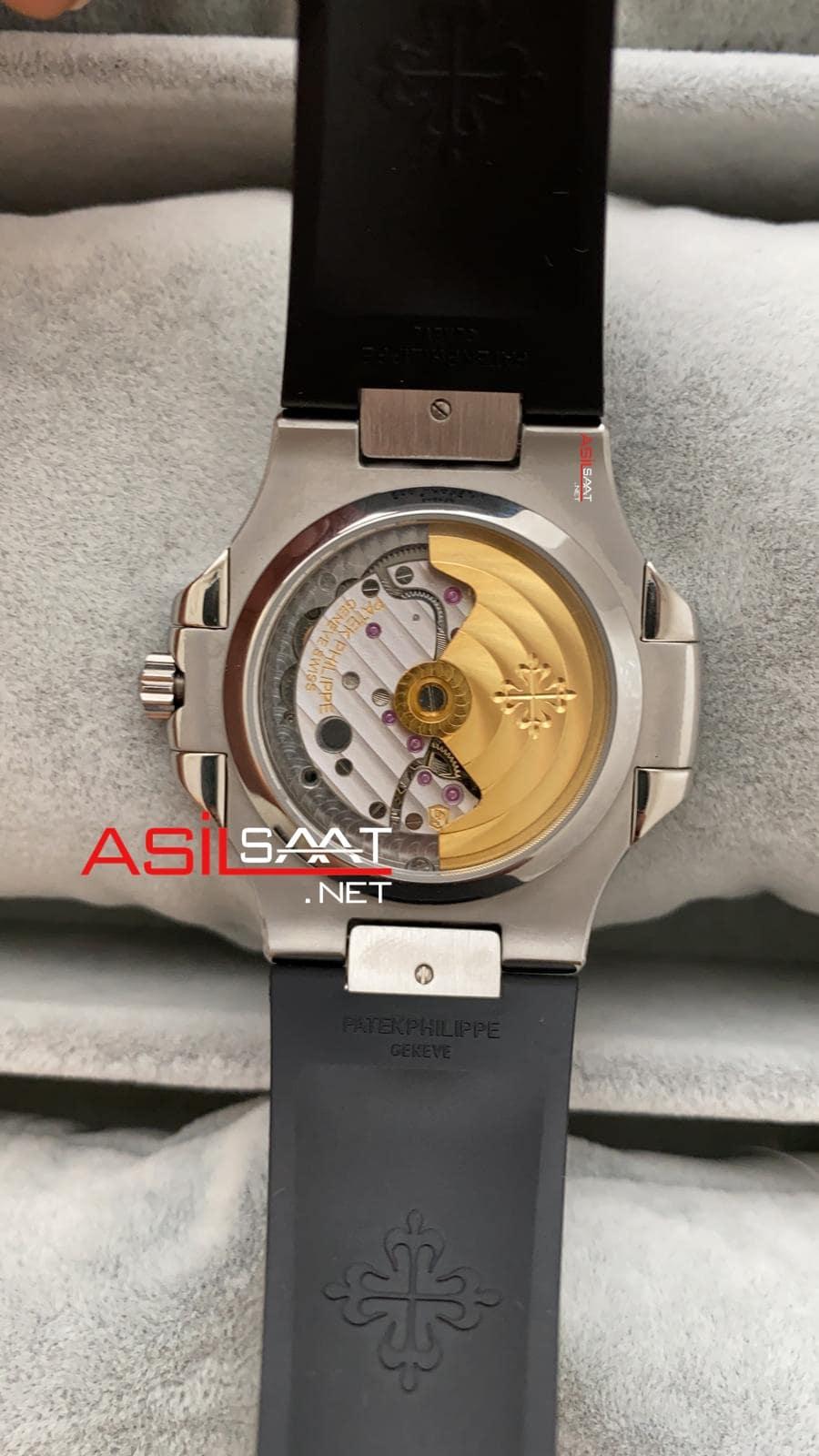 Patek Philippe Nautilus Silver İşlemeli Kasa Replika Saat PPNA033