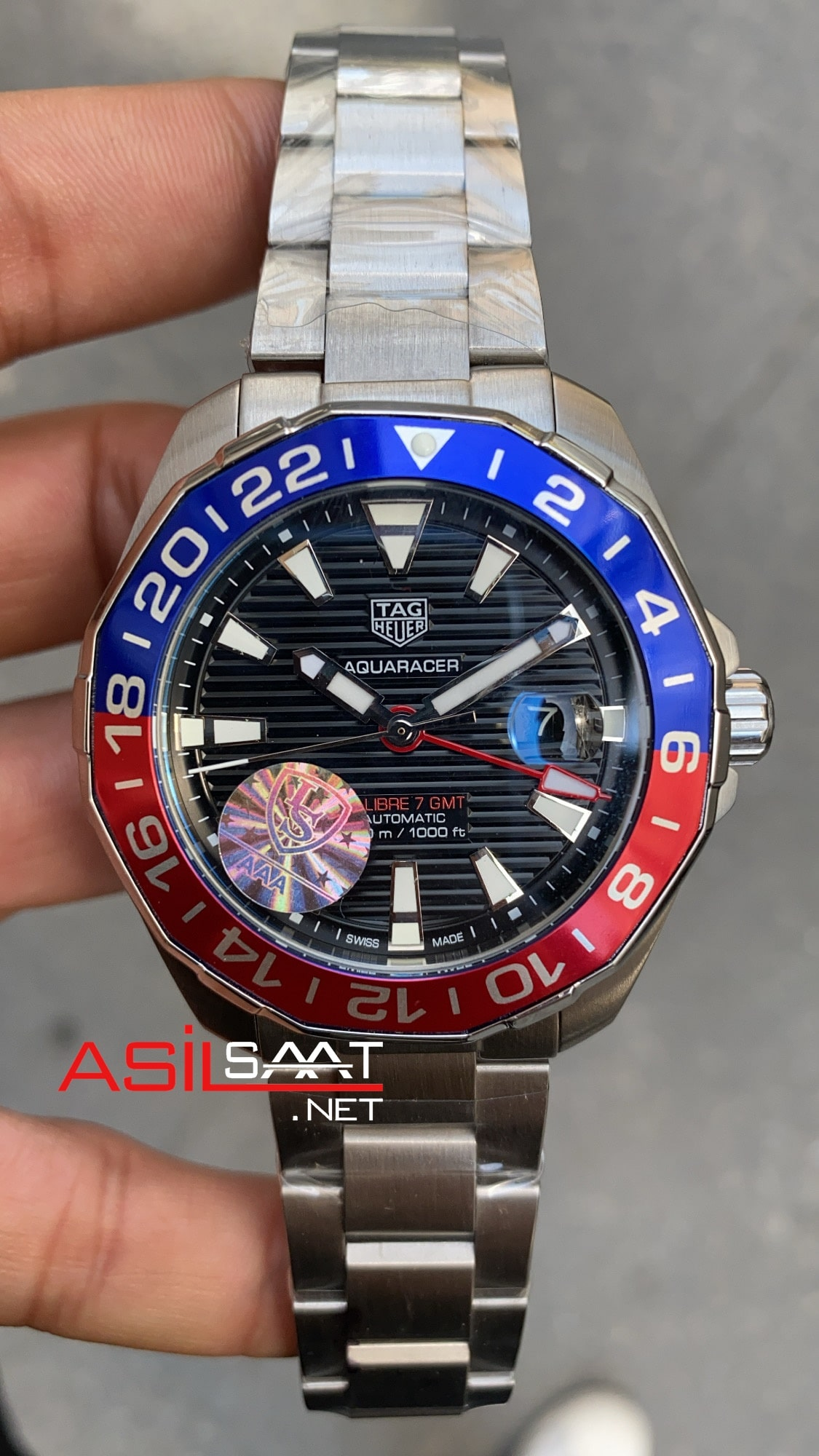 TAG Heuer Aquaracer Gmt Silver Replika Saat TAGA099