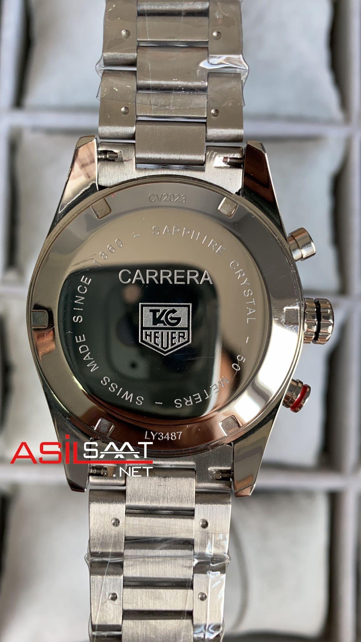 TAG Heuer Carrera Cal 1887 Silver Replika Saat TAGCC085