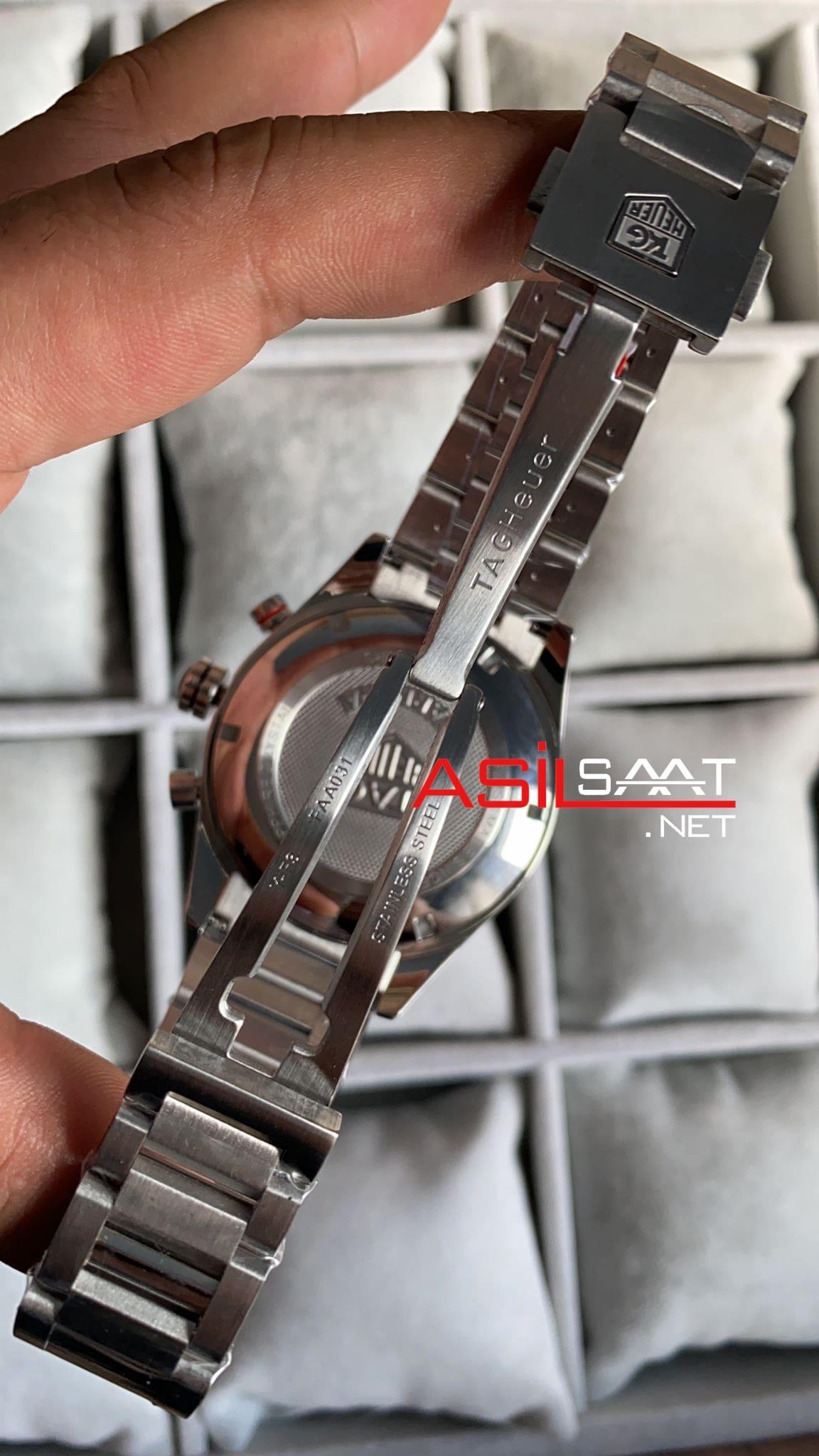 TAG Heuer Carrera Calibre 16 Silver Replika Saat TAGCC080