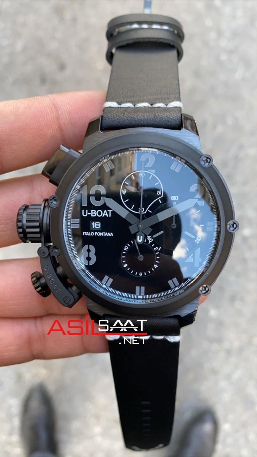 U-BOAT İtalo Fontana Black Replika Saat UBF012