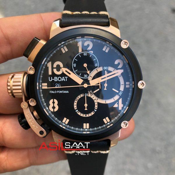 U-BOAT İtalo Fontana Rosegold Black Replika Saat UBF009