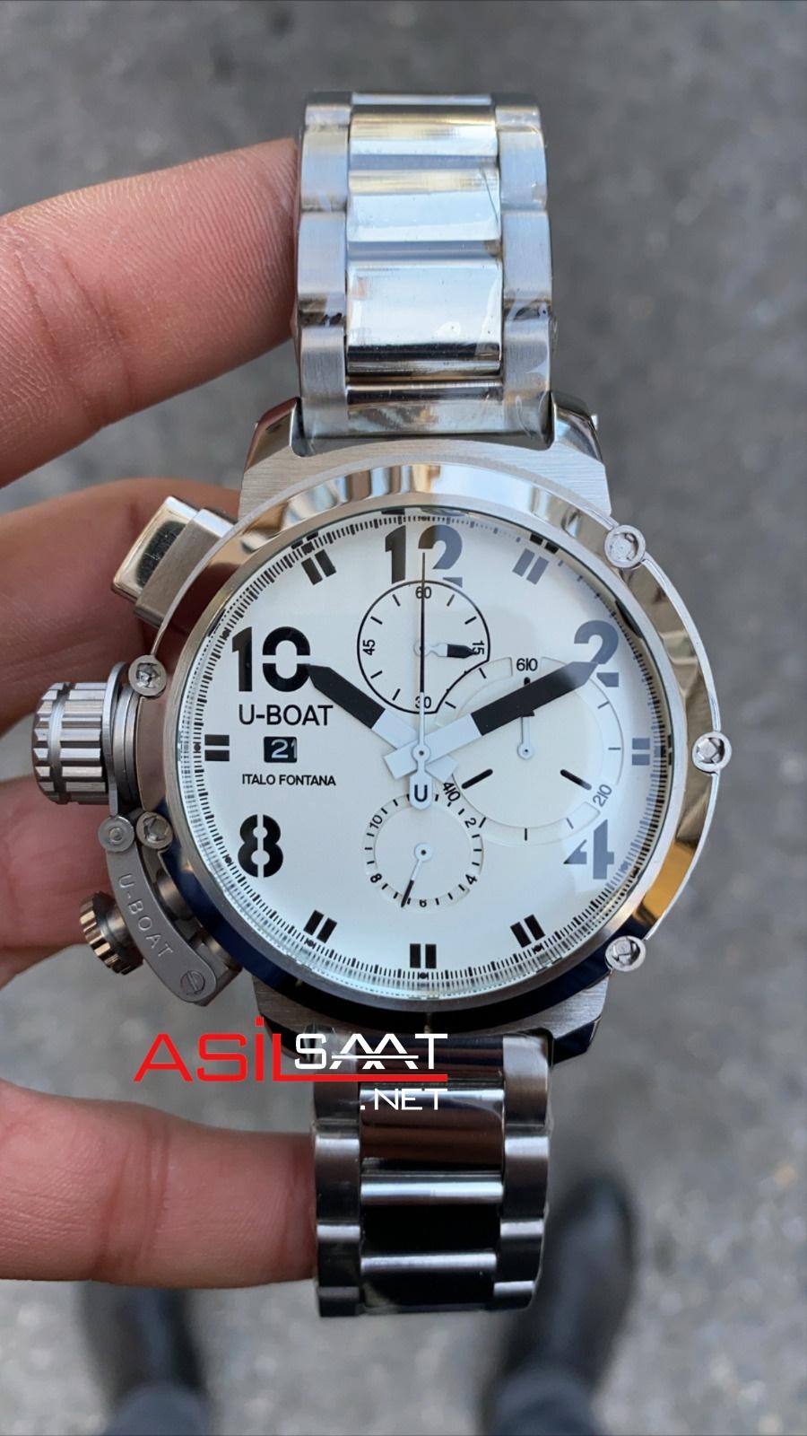 U-BOAT İtalo Fontana Silver Replika Saat UBF002
