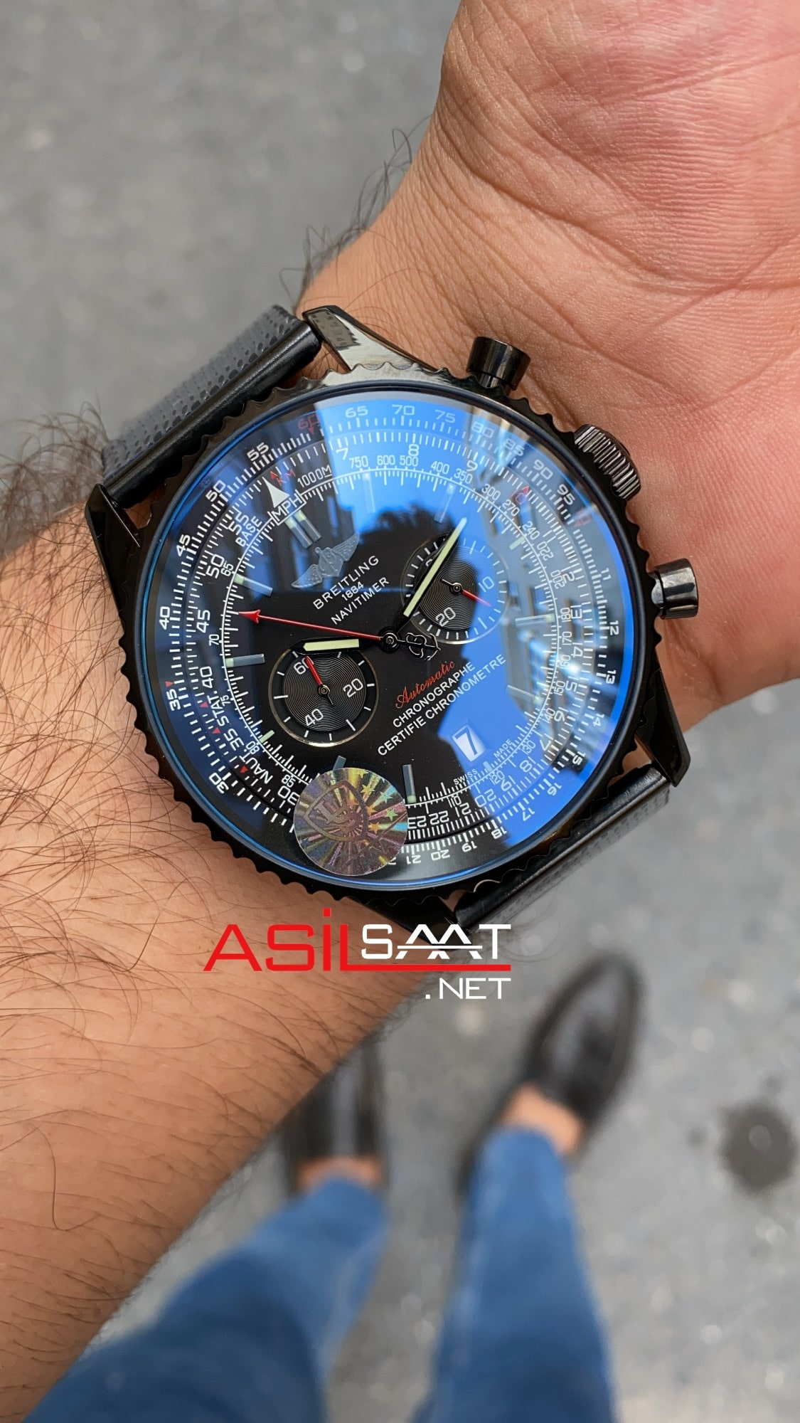 Breitling Navitimer Siyah Hasır Kordon BNAV014