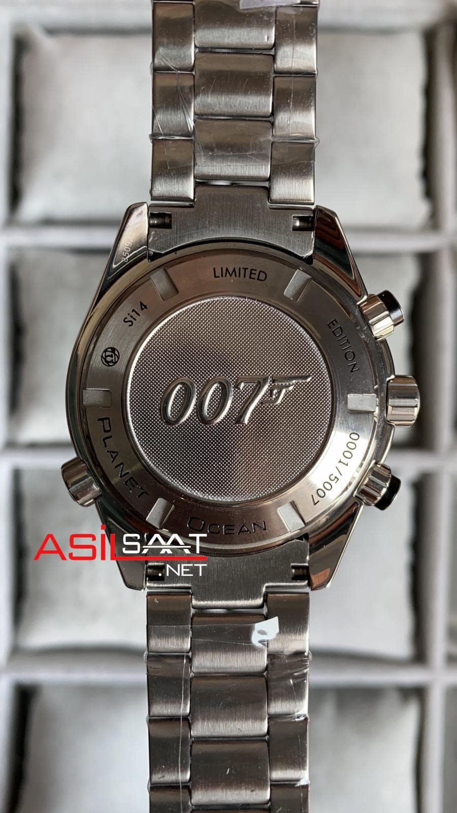 Omega Seamaster James Bond Planet Ocean Silver Replika Saat OSJP002