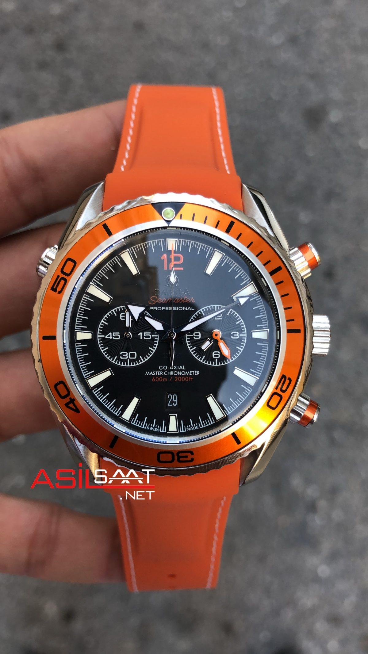 OMEGA Seamaster Planet Ocean Orange Replika Saat OSPL010