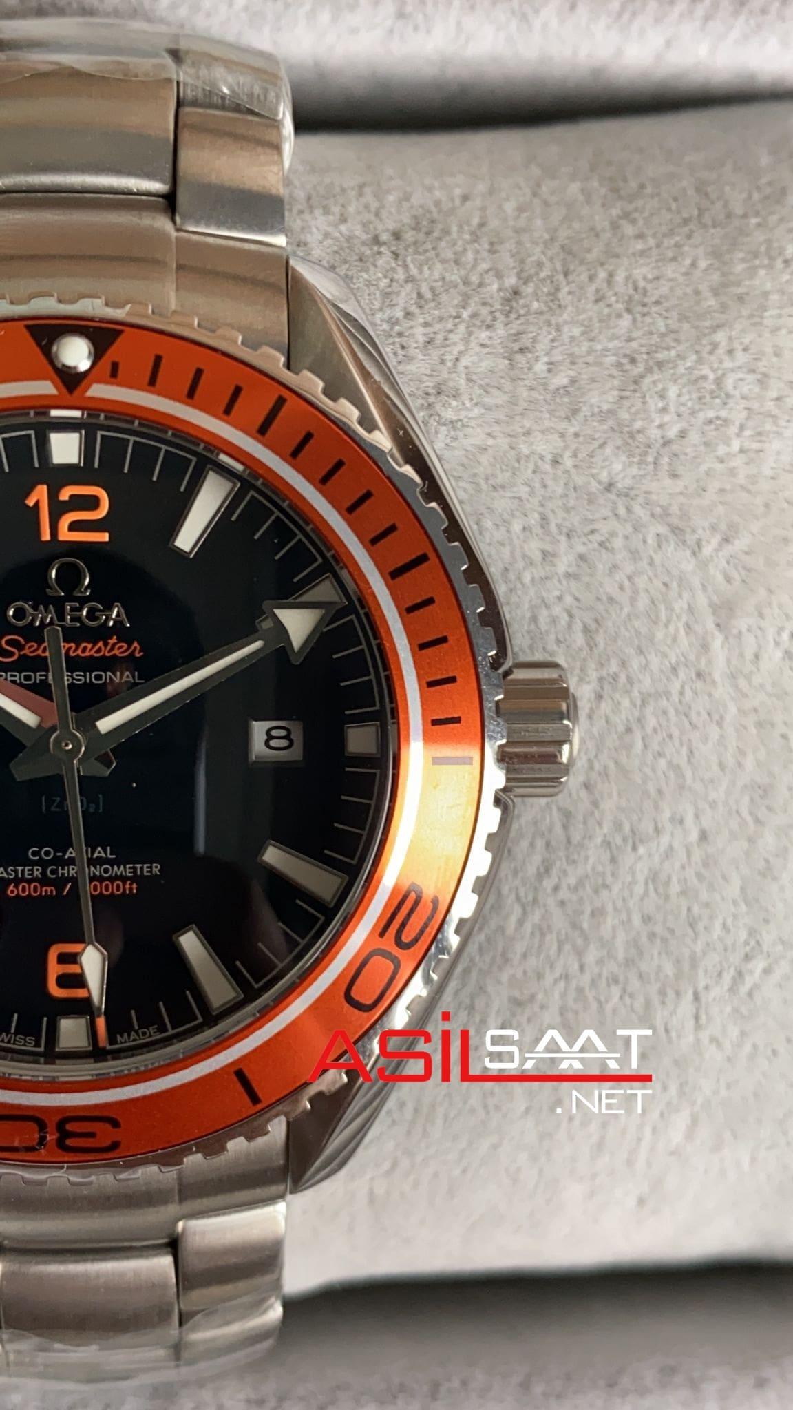 OMEGA Seamaster Planet Ocean Orange Replika Saat OSPL012