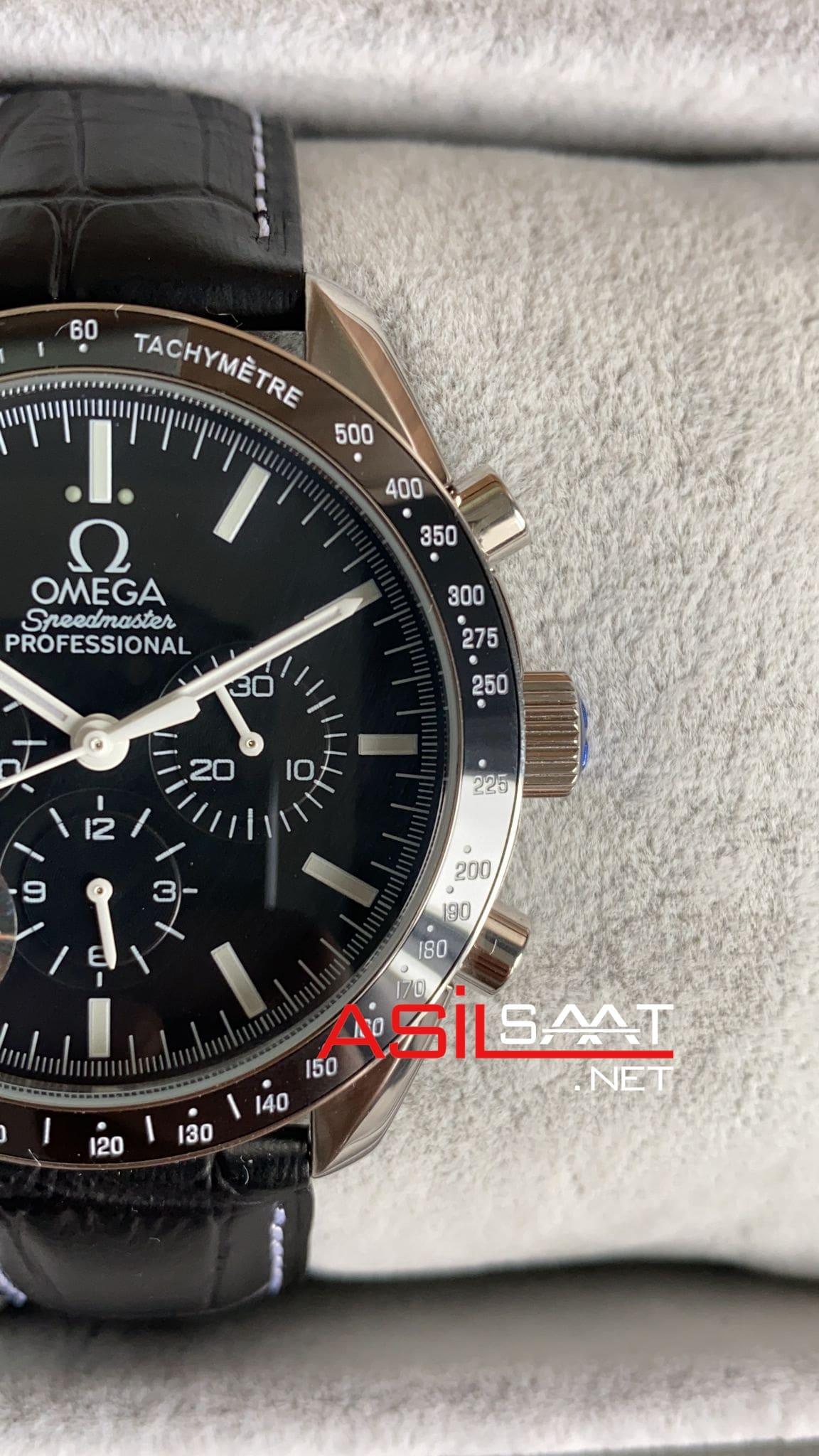 OMEGA Speedmaster Racing Silver Black Replika Saat OSR002