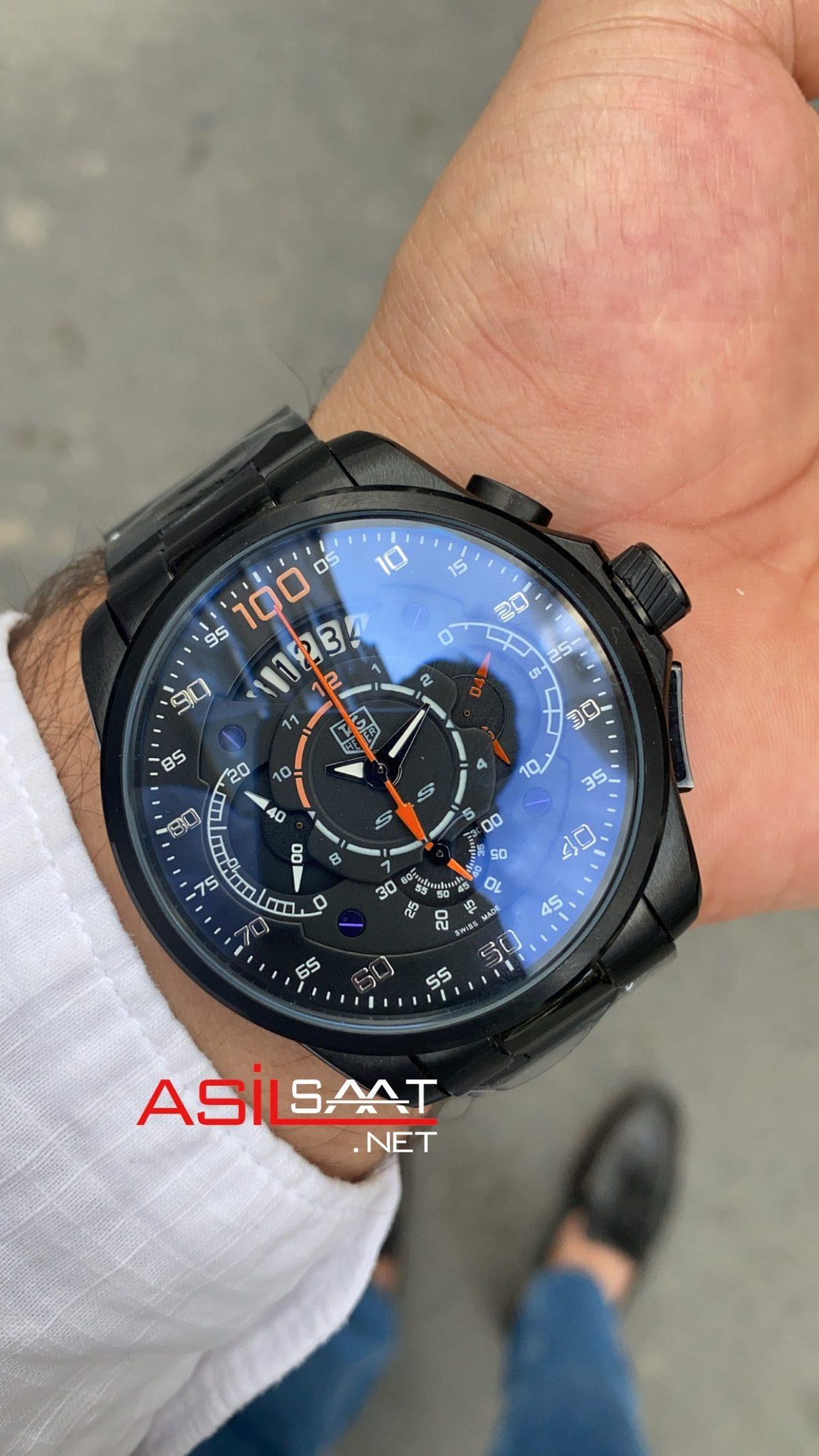 TAG Heuer Mercedes SLS Black Replika Saat TAGMB003