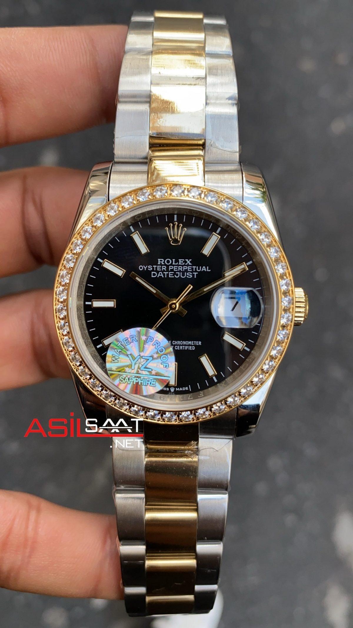 Rolex Datejust Besel Diamond Bayan 36 mm 126233 RBA068