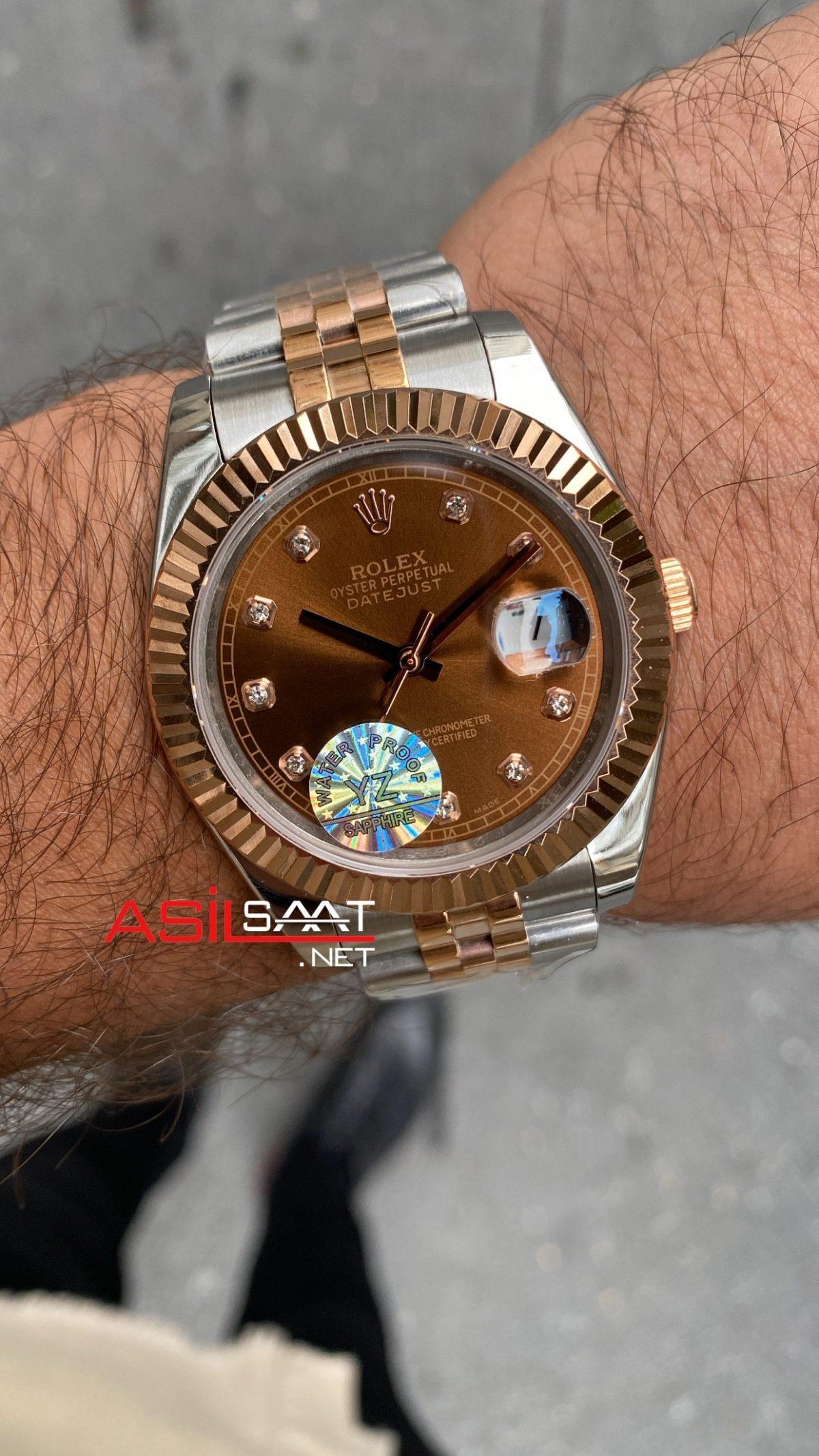 Rolex Datejust Chocolate 126331 Dial Diamond ROLDJ028