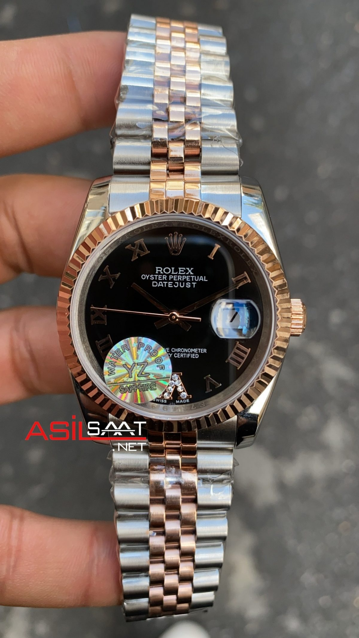 Rolex Datejust Dark Black Bayan 36 mm 126231 RBA062