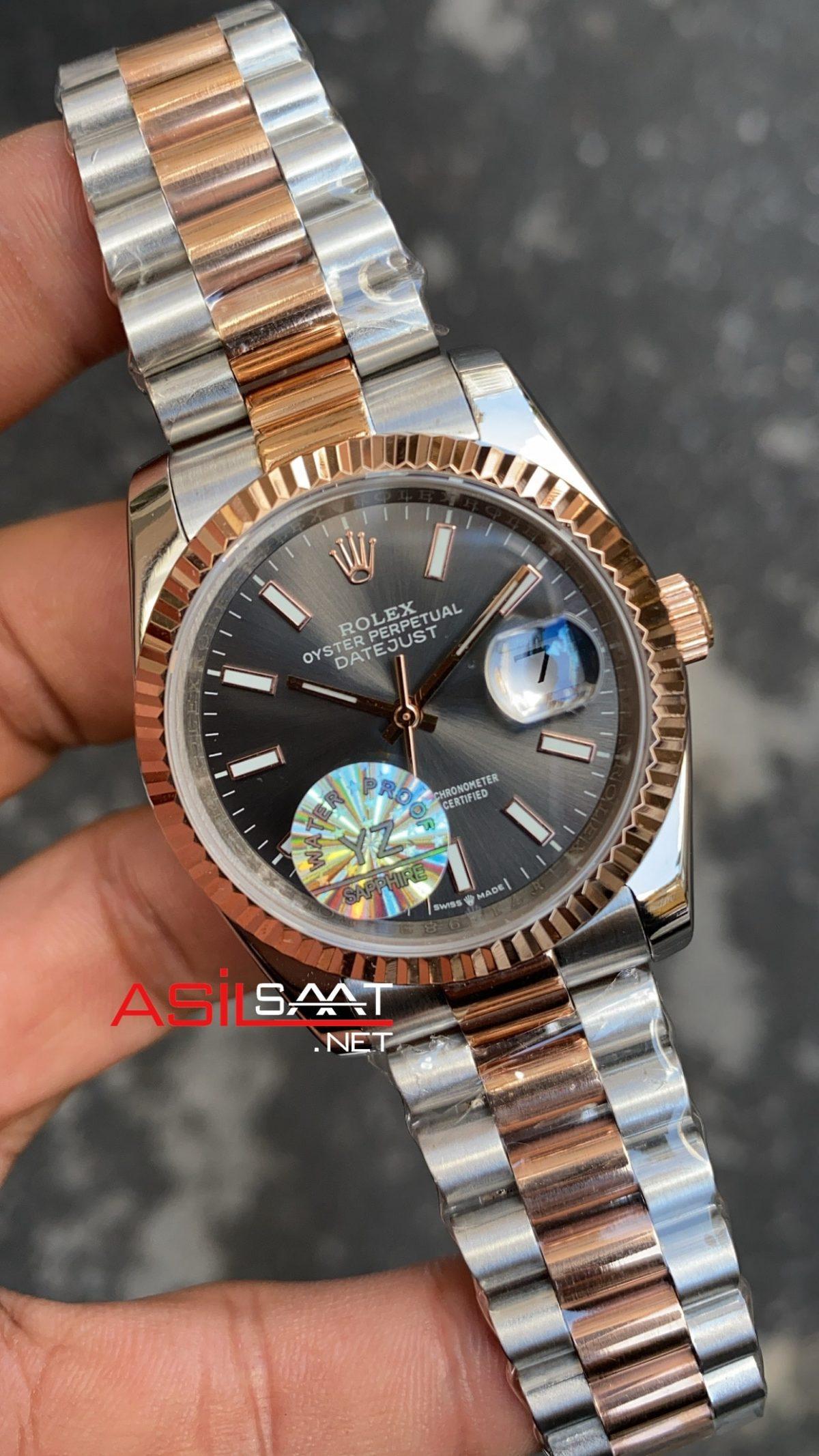 Rolex Datejust Dark Rhodium Bayan 36 mm 126231 RBA061