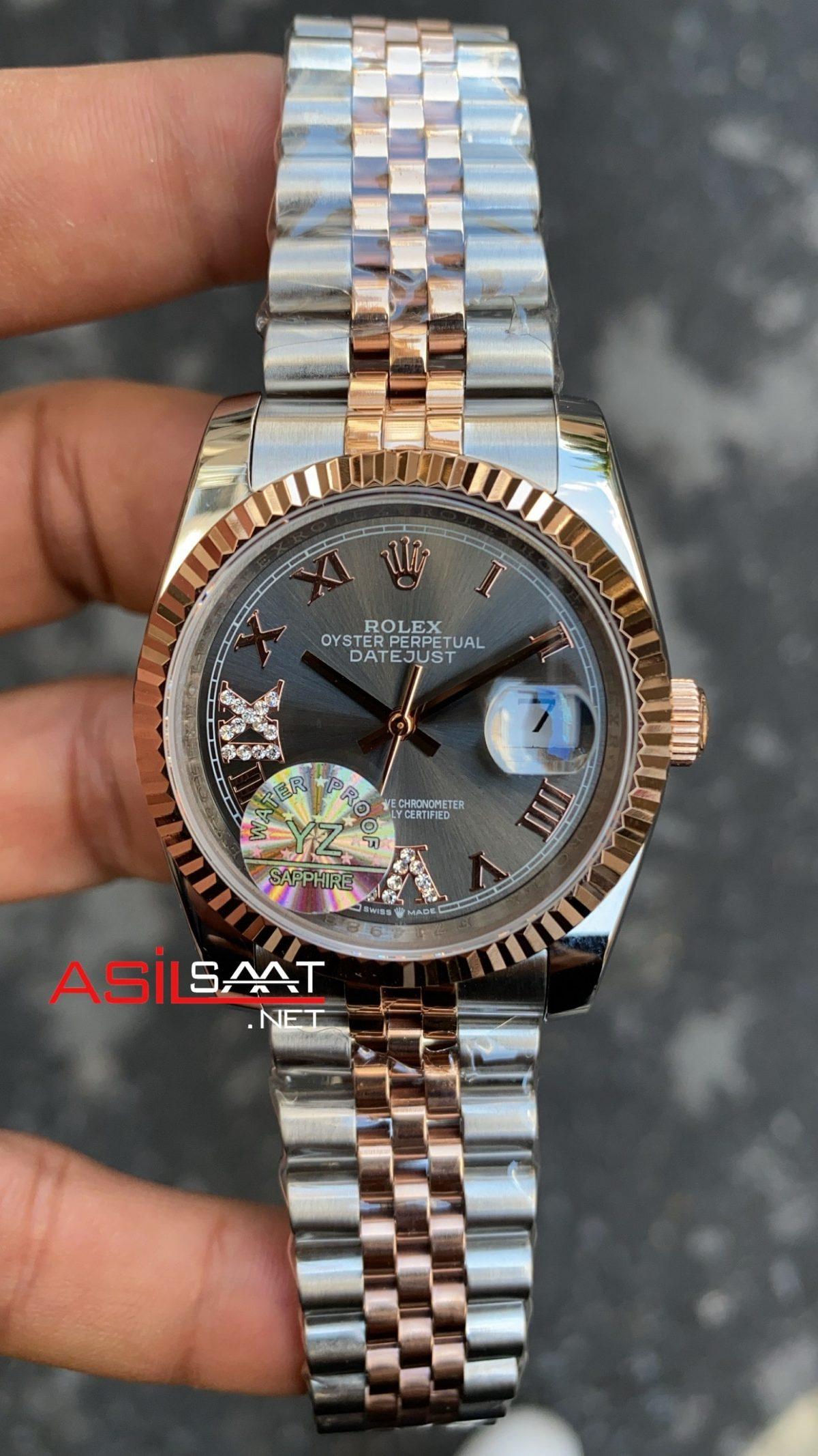 Rolex Datejust Dark Rhodium Bayan 36 mm IV Romen 126231 RBA063