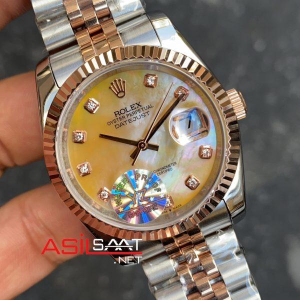 Rolex Datejust Dial Diamond Everose Gold Bayan 36 mm RBA065