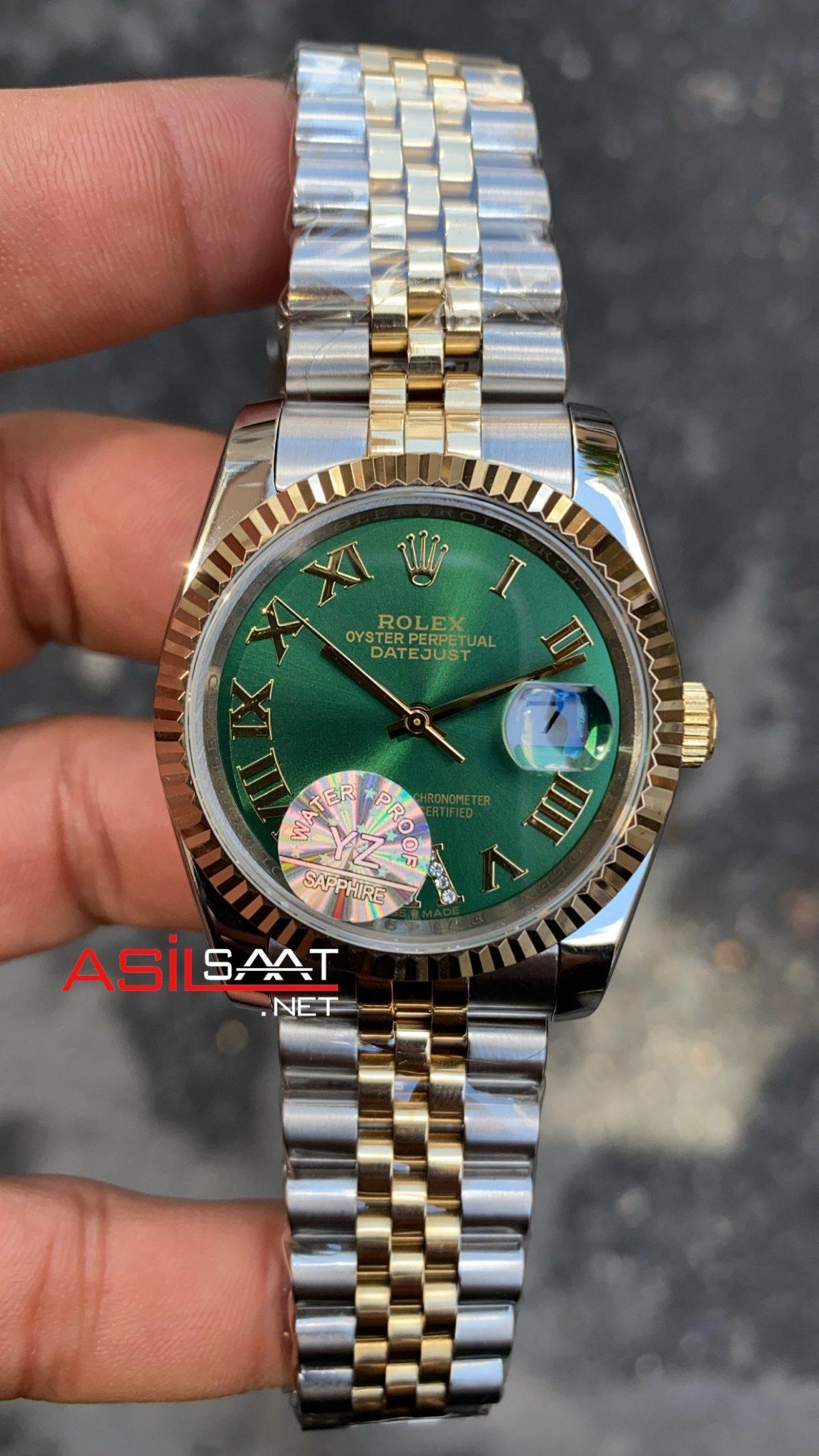 Rolex Datejust Green Bayan 36 mm 126233 RBA071