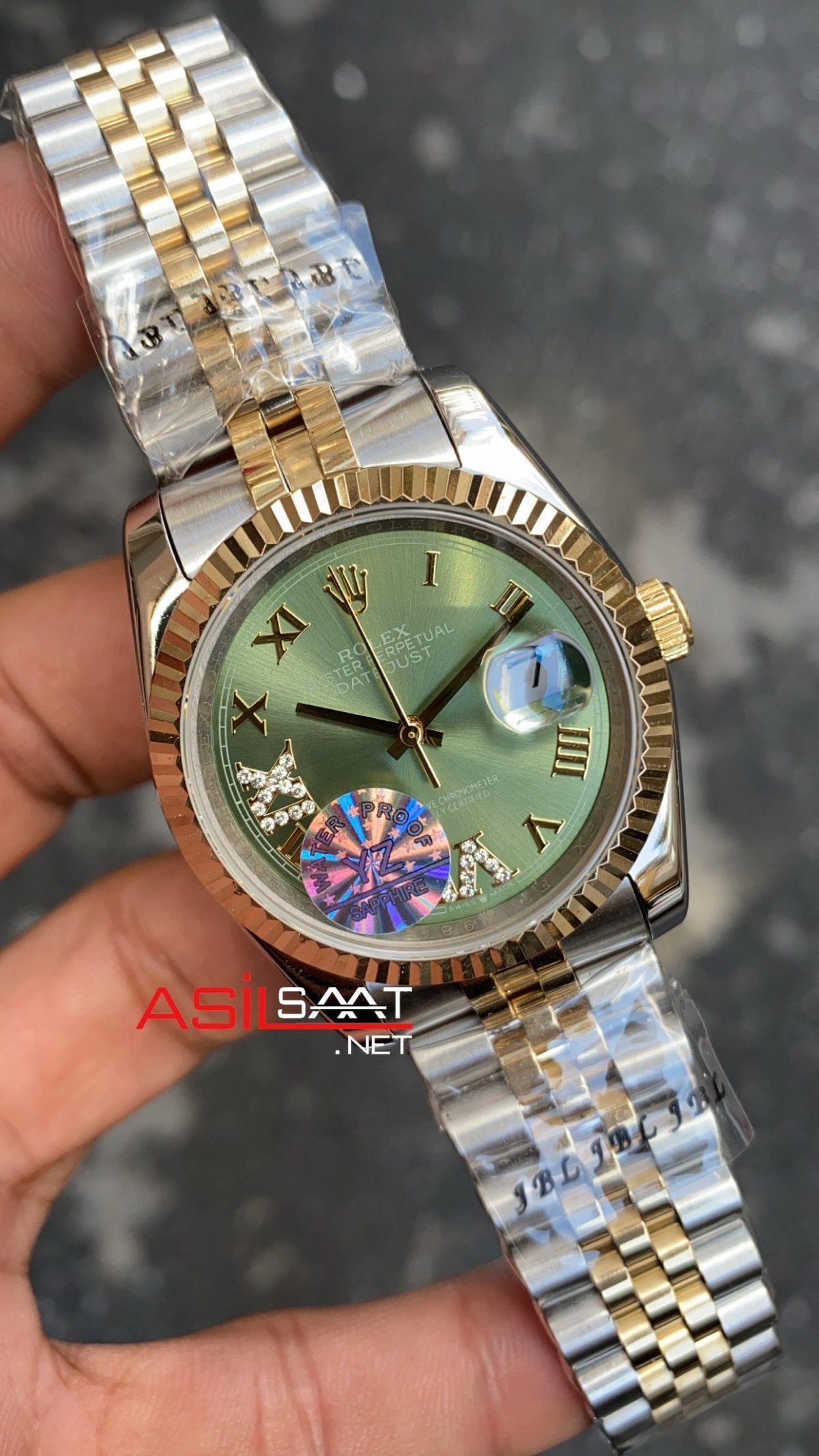 Rolex Datejust Olive Green Bayan 36 mm 126233 RBA073