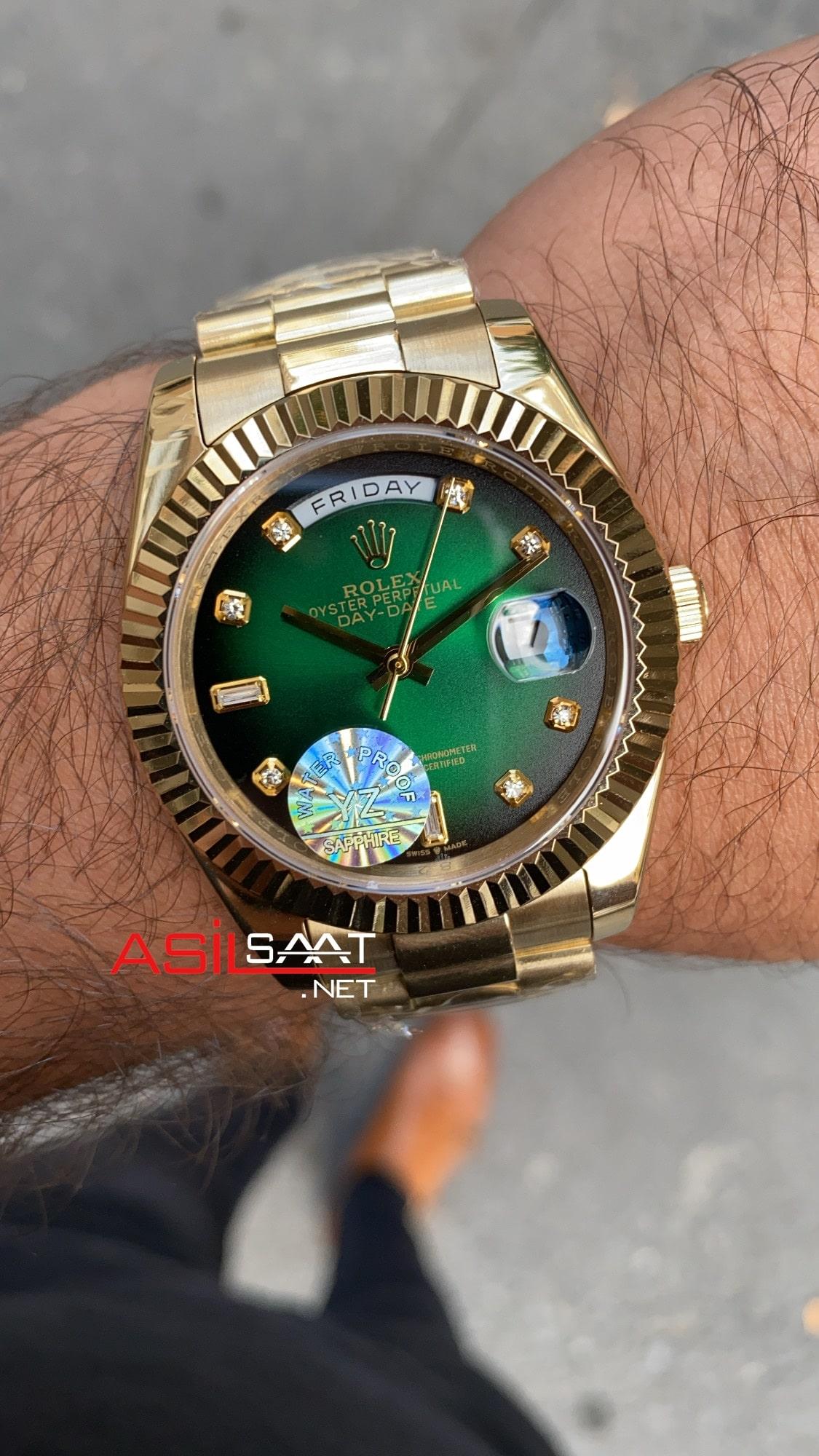 Rolex Day Date 128238 Green Diamond Dial ROLDD062