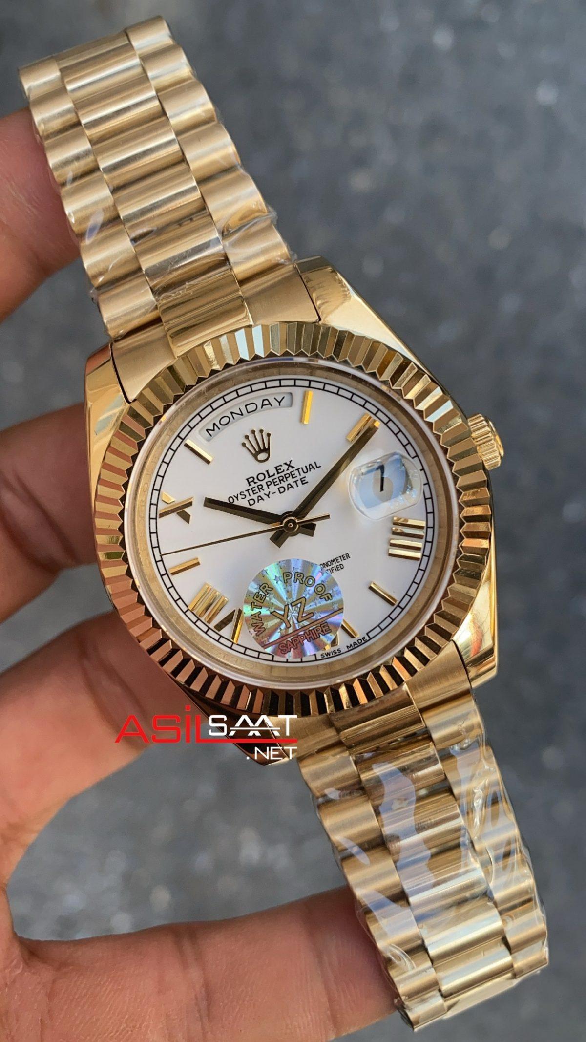 Rolex Day Date 228238 White Romen Dial ROLDD022