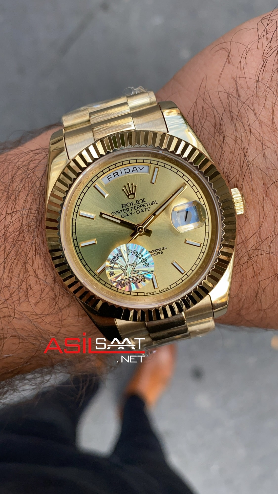 Rolex Day Date 228238 Yellow Dial ROLDD027