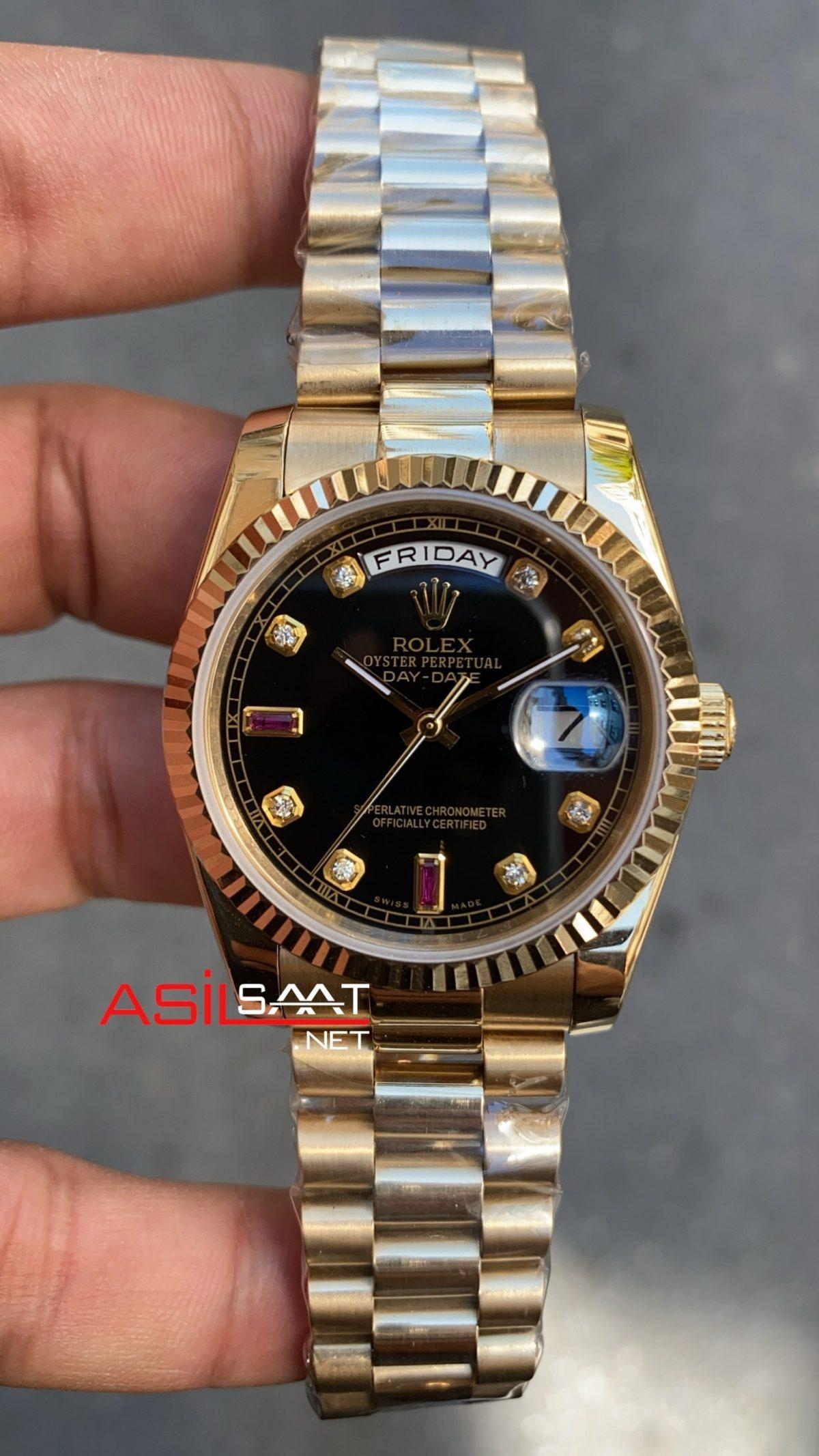 Rolex Day Date Black Bayan 36 mm 118228 RBA006
