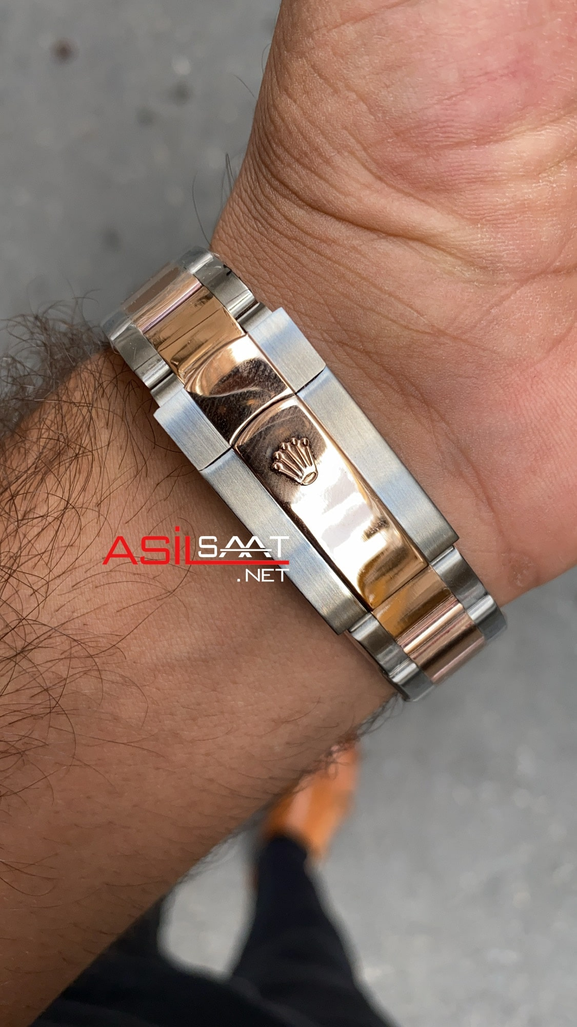 Rolex Day Date Oyster Silver Everose Gold ROLDD044