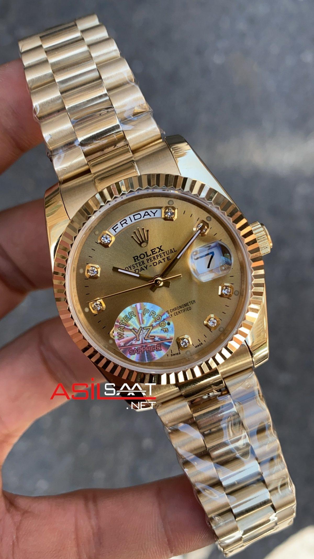 Rolex Day Date Yellow Bayan 36 mm 128238 RBA009
