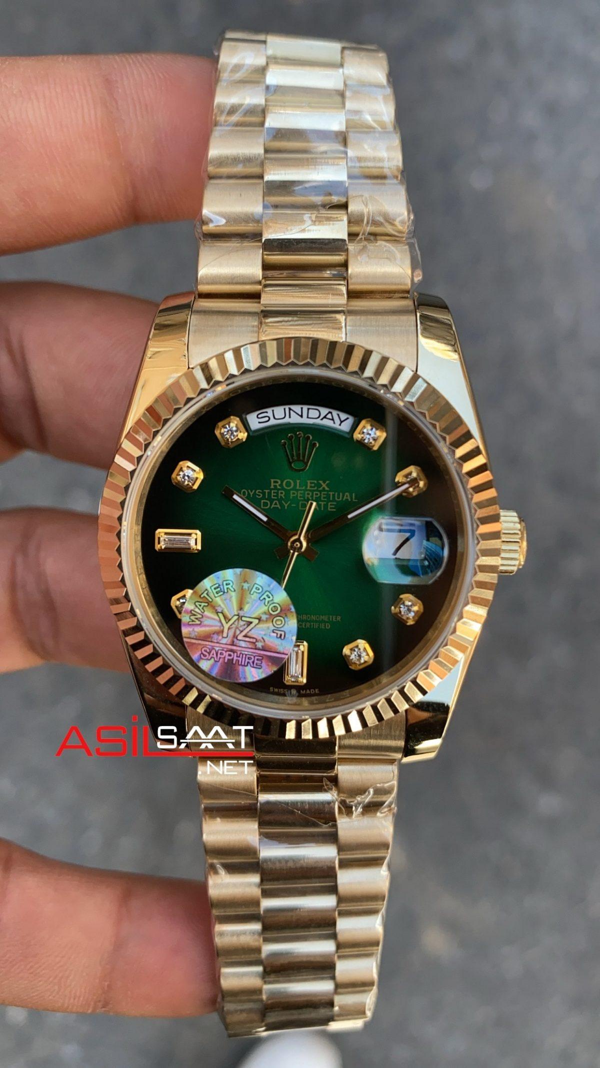Rolex Day Date Yeşil Bayan 36 mm 128238 RBA008