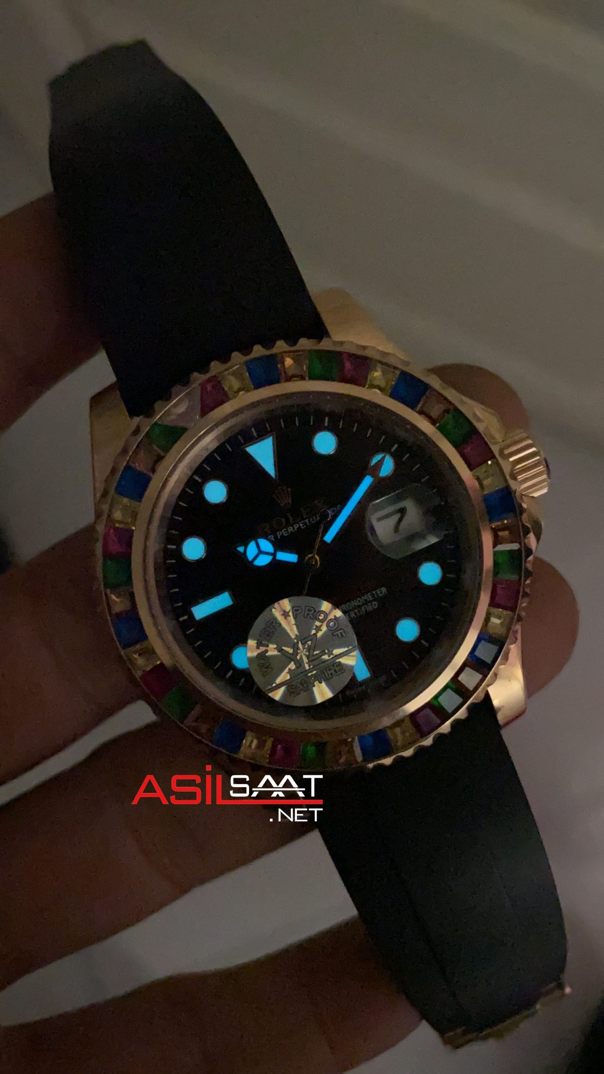 Rolex Yacht Master Rainbow 116695 Gem Stones ROLYAC007